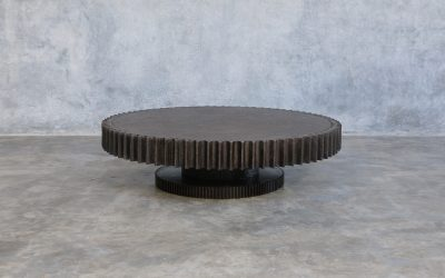 07 ROUND GIANT GEAR COFFEE TABLE