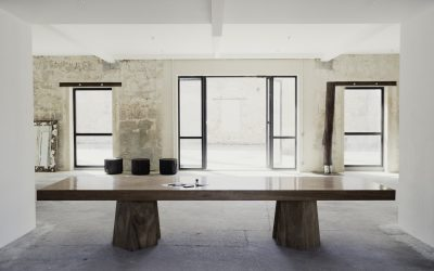 03 NATURAL MERBAU WOOD DINING TABLE « SIAN »