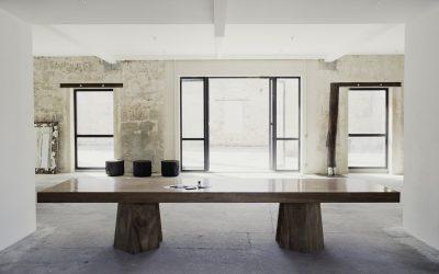 03 NATURAL MERBAU WOOD DINING TABLE «SIAN»