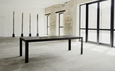 12 « LAST BORN » IRON DINING TABLE