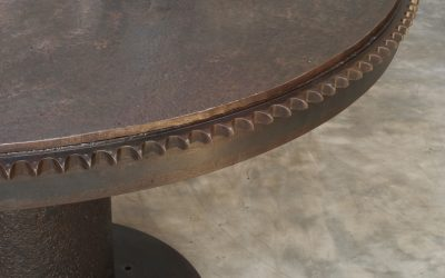 04 ROUND IRON DINING TABLE