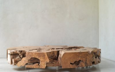 19 ROUND TEAK ROOT COFFEE TABLE