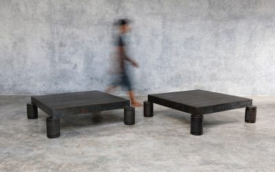 09 SQUARE IRON COFFEE TABLE