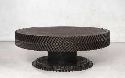 15 iron gear coffee table chevron