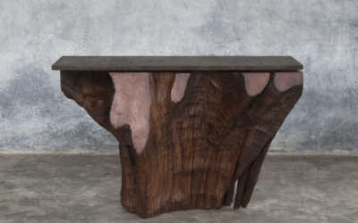 Iron wood console 4/12