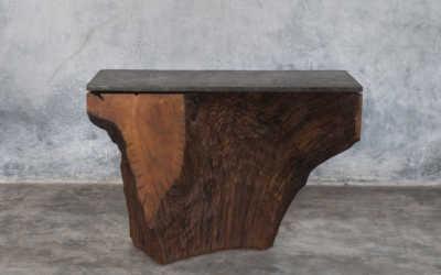Iron wood console 3/12