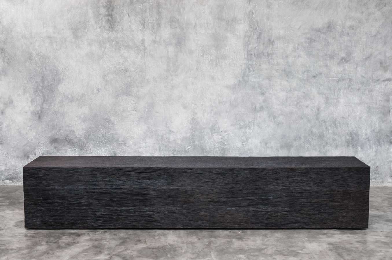 KALIMANTAN COLLECTION ERODED IRON WOOD BENCH 1 - 220x40x42cm 87x16x17' Custom size on request