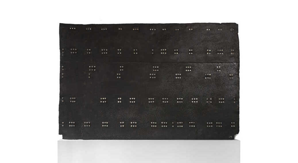LARGE IRON SHEET MUSIC 1 - 220x147cm - 87x58' - IRON LARGE BRAILLE PANEL_A_JPG LOW
