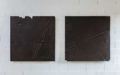 EMBROIDERED METAL SHEET DIPTYCH