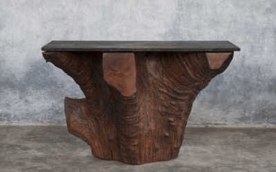 Iron wood console 5/12