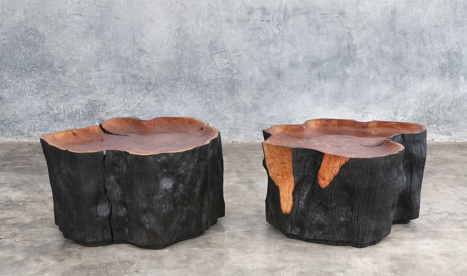 Superb Pair Of Litchie Trunk Coffee Table Jerome Abel Seguin Pabps2019 Chair Design Images Pabps2019Com