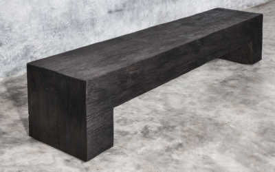 KALIMANTAN COLLECTION ERODED IRON WOOD BENCH POLOS