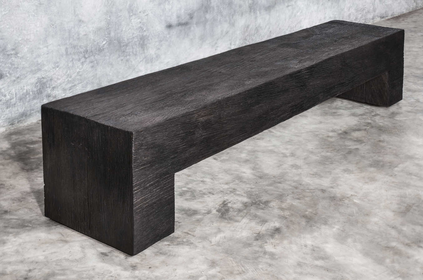 KALIMANTAN COLLECTION ERODED IRON WOOD BENCH POLOS 1 - 220x40x42cm 87x16x17' Custom size on request