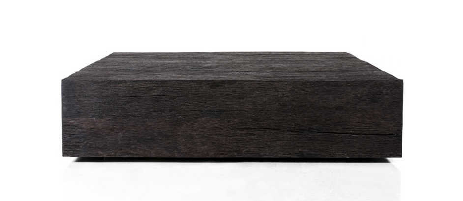 KALIMANTAN COLLECTION ERODED IRON WOOD COFFEE TABLE 1 - 140x140x35cm 55x55x14' Custom size on request