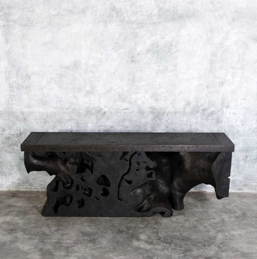 Pair of Consoles Base Root-Top Old Iron_C