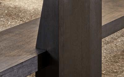 BLOOM – wall art work eroded teak